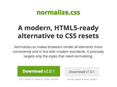 normalize.css使用方法,normalize.css下载